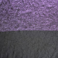 Crushed Polyester fabric - Purple shot with black material