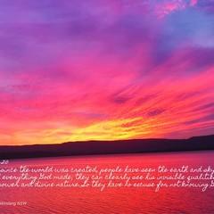 Through everything God made - Romans 1:20