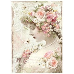 Rice Paper - Decoupage -  1 x A4 Size Sheet - Profile