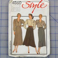 Style 4860 set of skirts pattern. Size 18. Uncut pattern