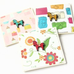 3 Horse Mini Cards   With Envelopes   Gift Tags Pony Wooden