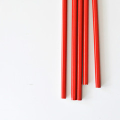 Fun Bright Red Pencils {5} | Stocking Stuffer | Teacher Gift <5 | Scrapbooking