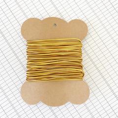 5 Metres Gold Elastic