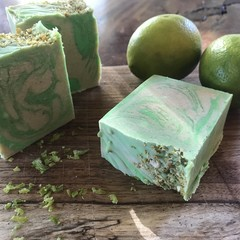 Coconut & Lime soap made with Goats Milk
