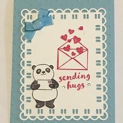 Sending hugs Handmade Card