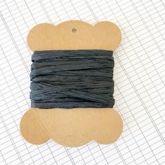 5 Metres Black Paper Raffia