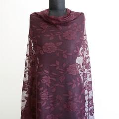 Dark Rose Lace Fabric - Cheap Fabric - Price per metre