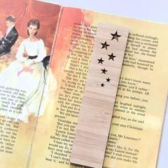Stars Bamboo Bookmark , Book Lover Gift, Birthday Gift, Kris Kringle, Teen Gift