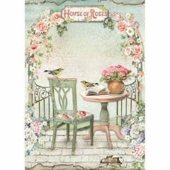 Rice Paper - Decoupage -  1 x A4 Size Sheet - Gazebo