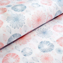 Modern Floral fabric - Cotton Fabric - Price per half metre