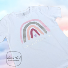 Personalised Rainbow Kids T-shirt