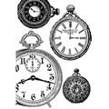 Rice Paper - Decoupage - 1 x A4 Size Sheet - Vintage Clocks