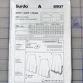 Burda easy 8907 semi-fitted skirt pattern. Size 8 - 20. Uncut pattern