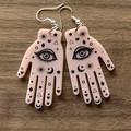 Palmistry Fortune Telling Hands Acrylic Earrings