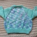 Size 9-18 mths cardigan multi colour by CuddleCorner: OOAK, washable,