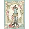 Rice Paper - Decoupage - 1 x A4 Size Sheet - Flower Mannequin
