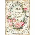 Rice Paper - Decoupage -  1 x A4 Size Sheet - Cafe Rose