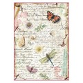 Rice Paper - Decoupage - 1 x A4 Size Sheet - Dragonflies