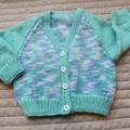 Size 9-18 mths cardigan multi colour by CuddleCorner: OOAK, washable,