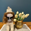Hometown girl doll, hand sewn sock doll, birthday gift, baby shower