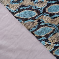 Snake skin print velour, stretch fabric. Fabric by the metre