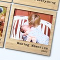 Making Memories 2020 Magnetic Photo Frame, Bamboo Fridge Magnet, Iso Gift