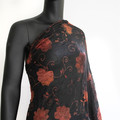 Burnt Rose mesh lace - Overlay Fabric