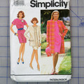 Simplicity 7664 dress and coat pattern. Size 18 - 24. Uncut pattern.