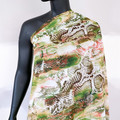 Snake skin print chiffon. Fabric by the metre