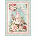 Rice Paper - Decoupage -  1 x A4 Size Sheet - Christmas Candle
