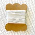 10 Metres White High Quality Wax Cotton Cord