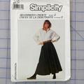 Simplicity 8184 circular skirt pattern. Size 12. Uncut pattern