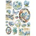 Rice Paper - Decoupage - 1 x A4 Size Sheet - Blue Birds