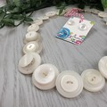 Winter White - Button Necklace - Button Earrings