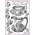 Rice Paper - Decoupage -  1 x A4 Size Sheet - Black & White Royal Family
