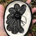 Australian Black Cockatoo plate