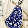 Churchill  Blue Willow pendant