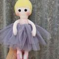Ballerina, handmade doll
