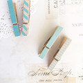 Washi tape pegs - Blue