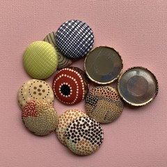 Medium Fabric Covered Metal Buttons