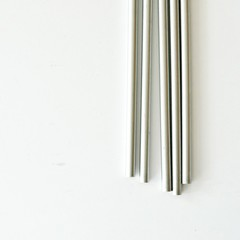 LAST Stylish Silver Pencils {5} Metallic | Stocking Stuffer | Lead Pencils | Tea