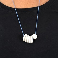 Porcelain stack necklace