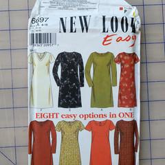 New Look Easy 6697 dress pattern. Size 8 - 18. Uncut pattern