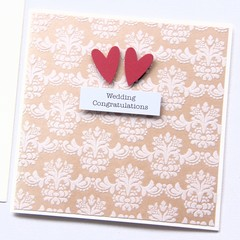 Wedding card | Vintage Luxury Flocked | Wedding Congratulations