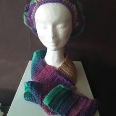 Basic beret and scarf set