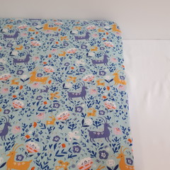 Fitted Cot Sheet - Cotton - Girls Woodland