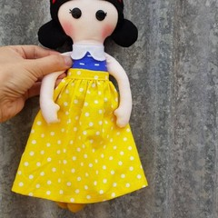Snow white princess, handmade doll