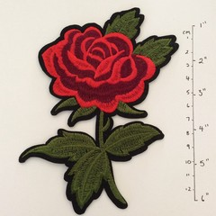 Iron on Rose Applique 6.5""