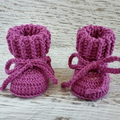 Newborn Crochet Baby Booties Shoes Socks Pregnancy Baby Reveal