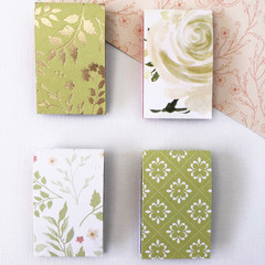Magnetic Bookmarks - Green Floral
